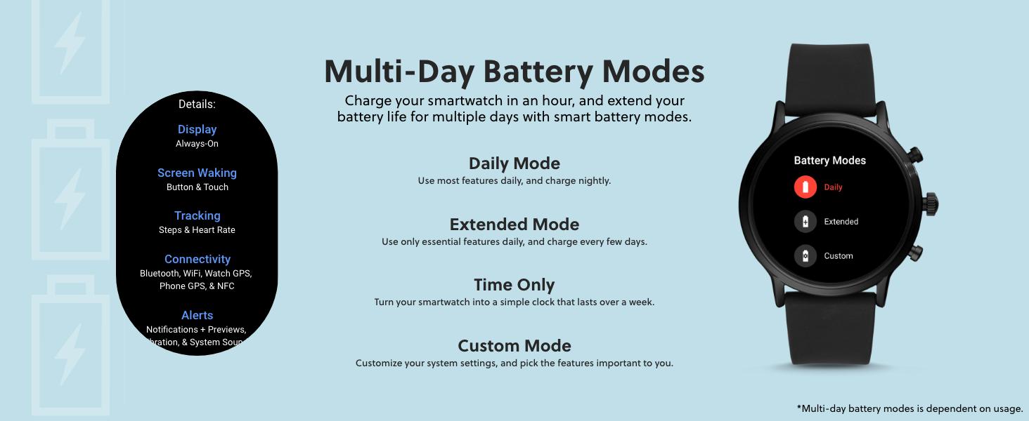 Gen 5 Multi-Day Battery Modes