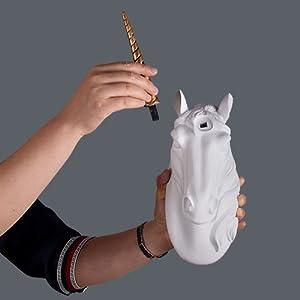 unicorn head wall mount unicorn decor faux taxidermy unicorn bust  baby nursery decor