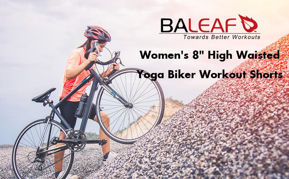 women biker yoga shorts