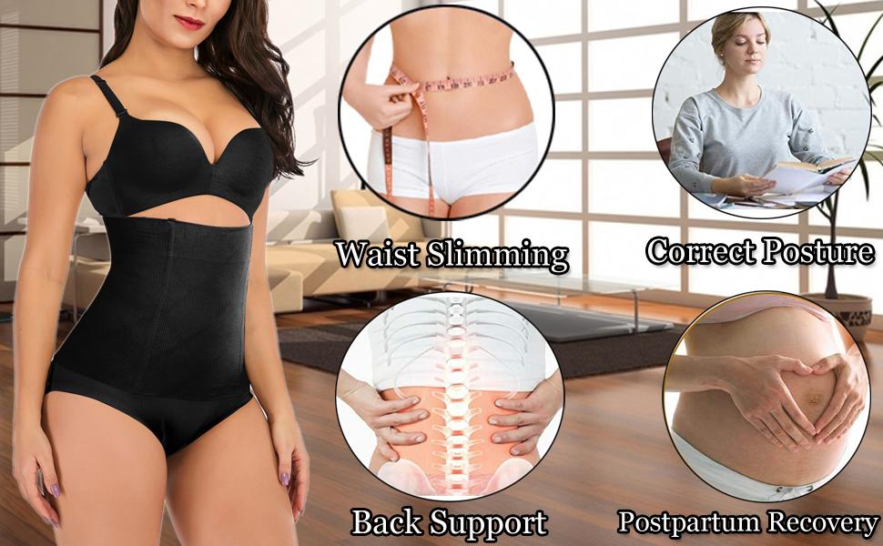 Waist Shapewear Belly Band Belt Body Shaper Cincher Tummy Control Girdle