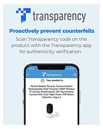Transparency Security Camera