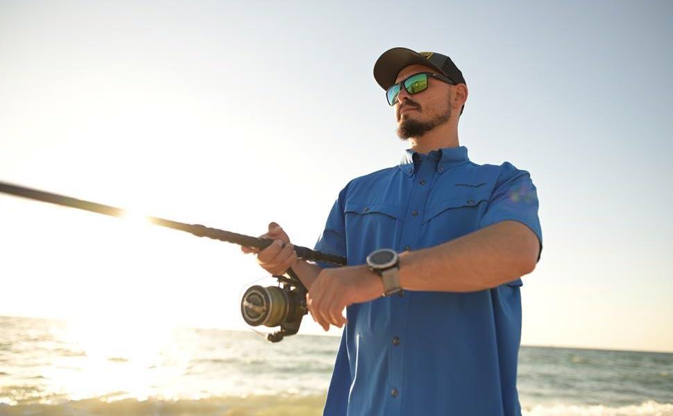 Whitewater Rapid Short Sleeve Fishing Shirt Header