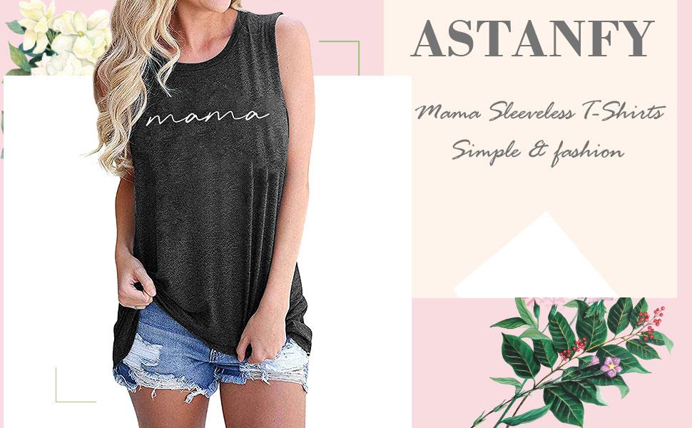 Mama Sleeveless T-Shirts