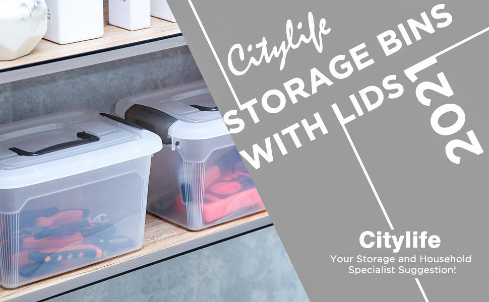 Citylife Storage Bins with Lids