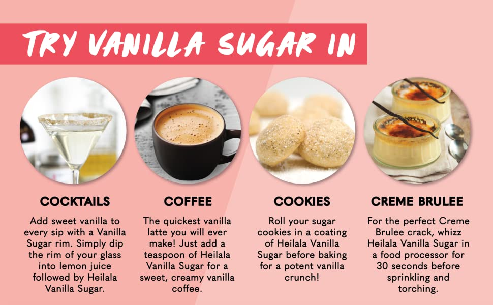 Try Heilala Vanilla Pure Bean Sugar In Cocktails, Coffee, Cookies and Creme Brulee