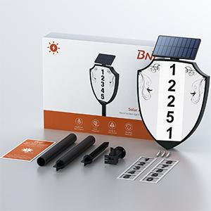 solar address signs for yard