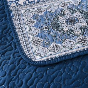 Secgo Floral Pattern Quilt Set King Queen Twin Size with 2 Pillow Shams Lightweight