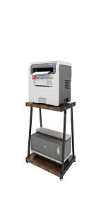 2Tier white balck Office home Desktop Printer Copier Fax Scanner book  Stand Rack Shelf holder