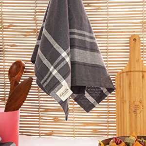 Red Striped Dishcloths