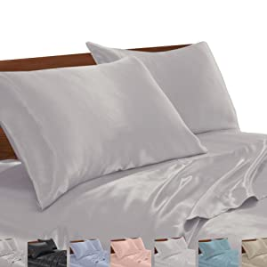 on the bed satin