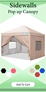 10x10 pop up canopy with sidewalls