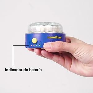 Luz de emergencia v16 con indicador de batería