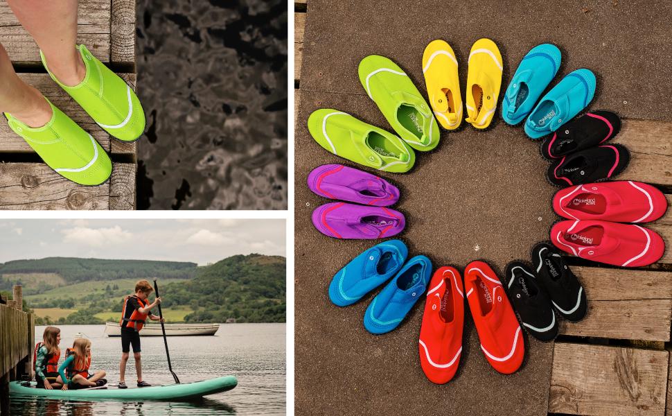 Kids childrens aqua swim shoe outdoor swimming wild durable non-slip slip-on stretchy beach pool