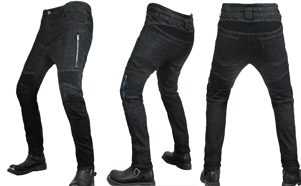 Motocross Motorbike Jeans Cycling Trousers with CE Armor Pads