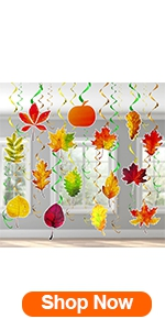 31 Pcs Fall Hanging Decorations Foil Swirls Thanksgiving Decor
