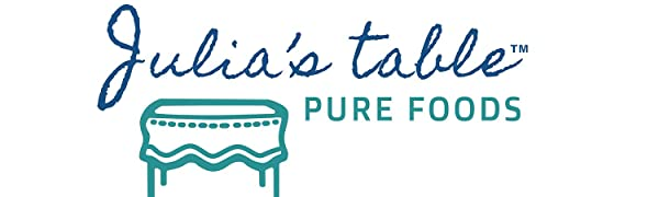 Julia's Table Pure Foods Logo