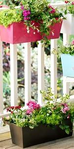 Rectangular Hanging Planter Box
