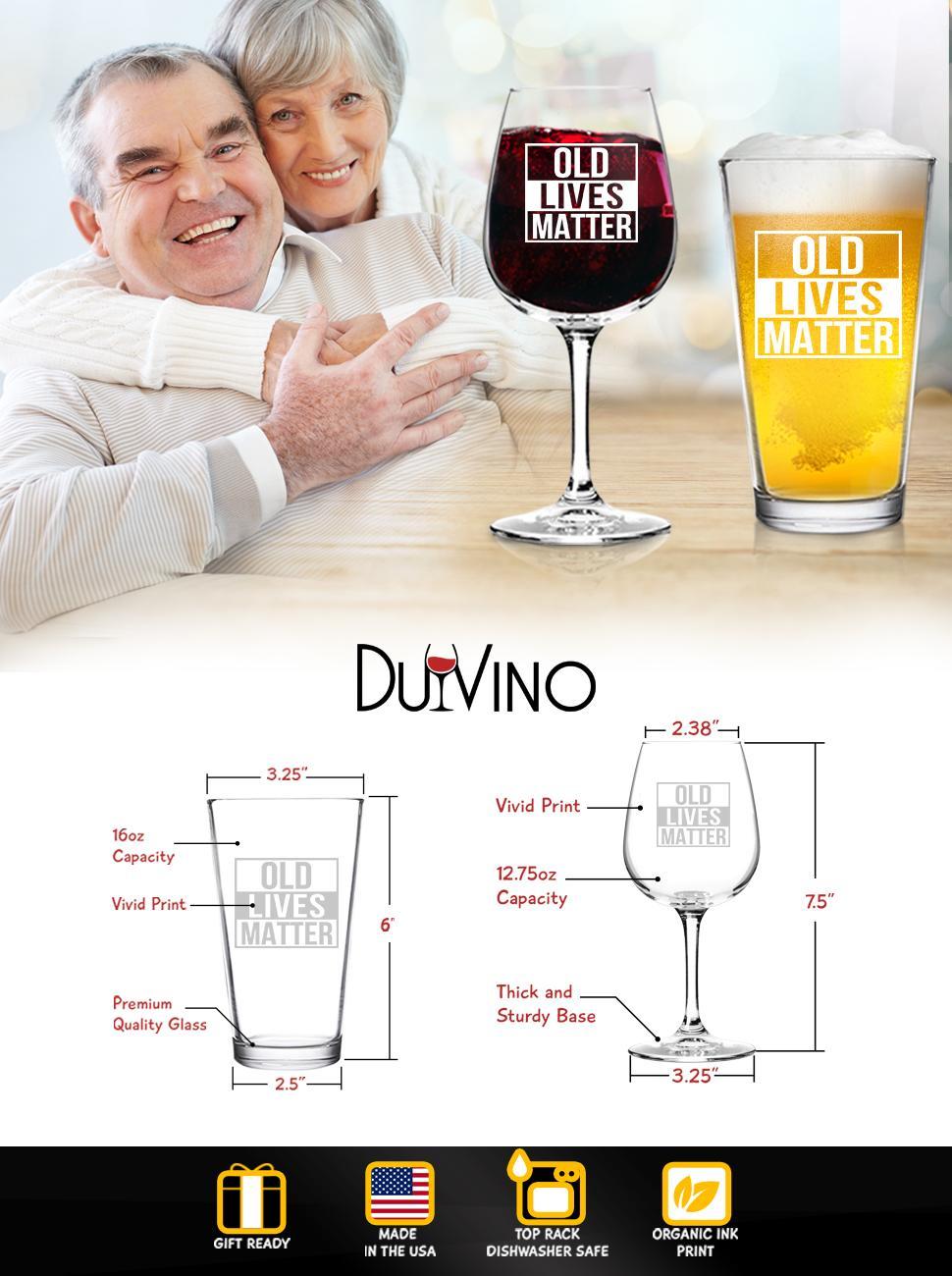 Old Lives Matter Beer Wine Set
