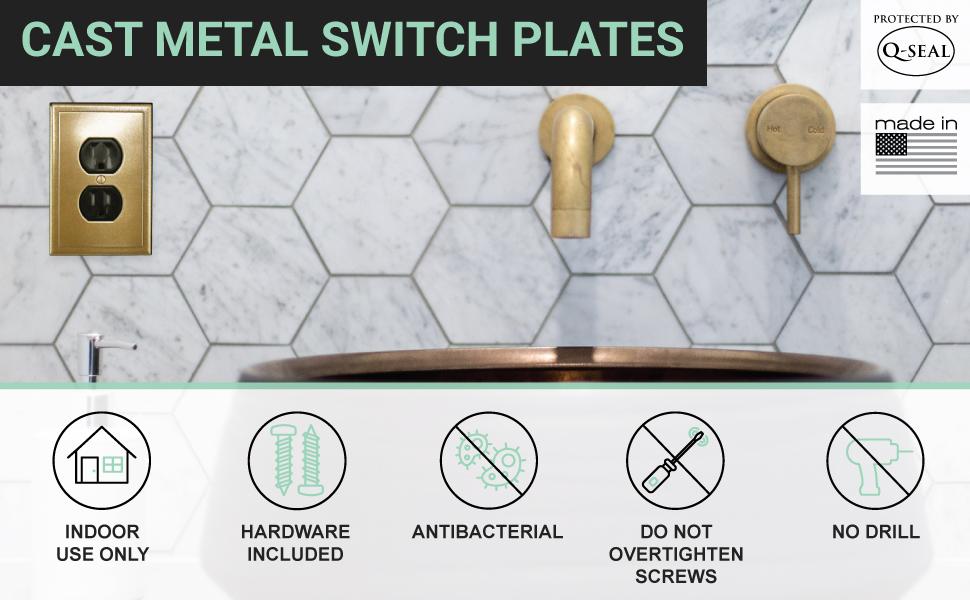 Cast Metal Switch Plates