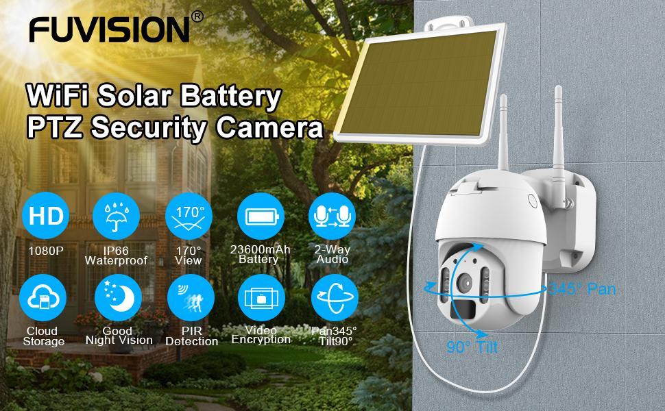 FUVISION solar security camera