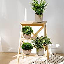 artificial plants with potted