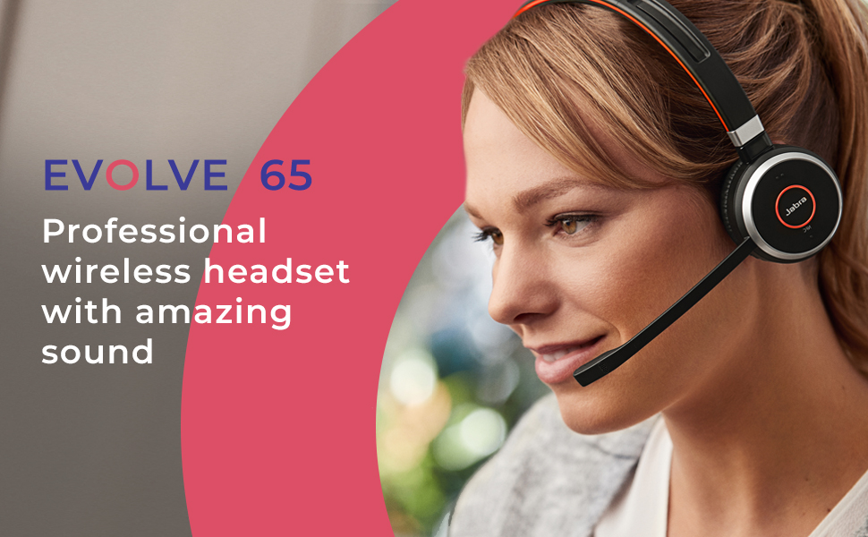jabra headsets evolve 65 auriculares great battery life noise cancelling bluetooth soundproof