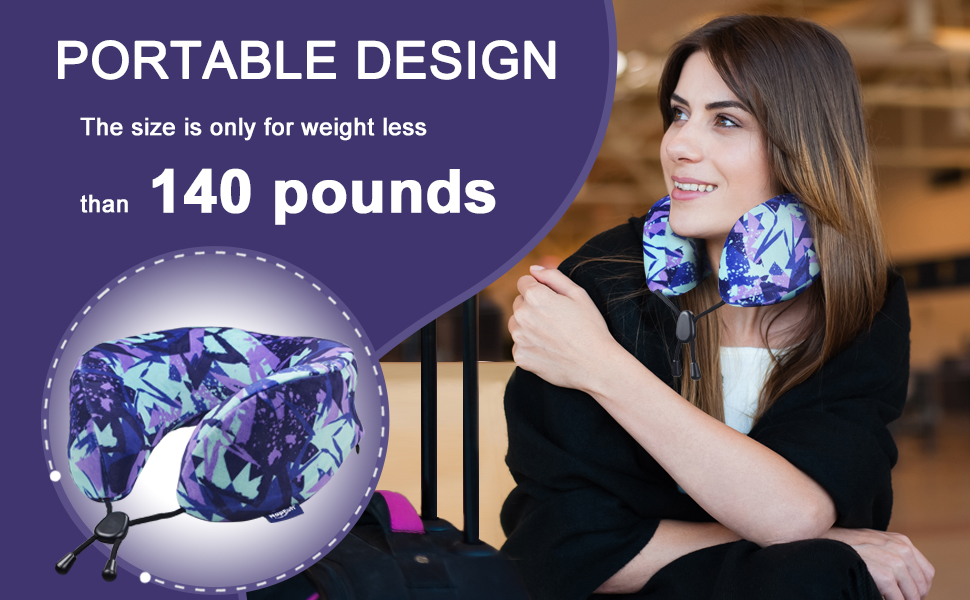 travel pillow only for weight less than 140 pounds
