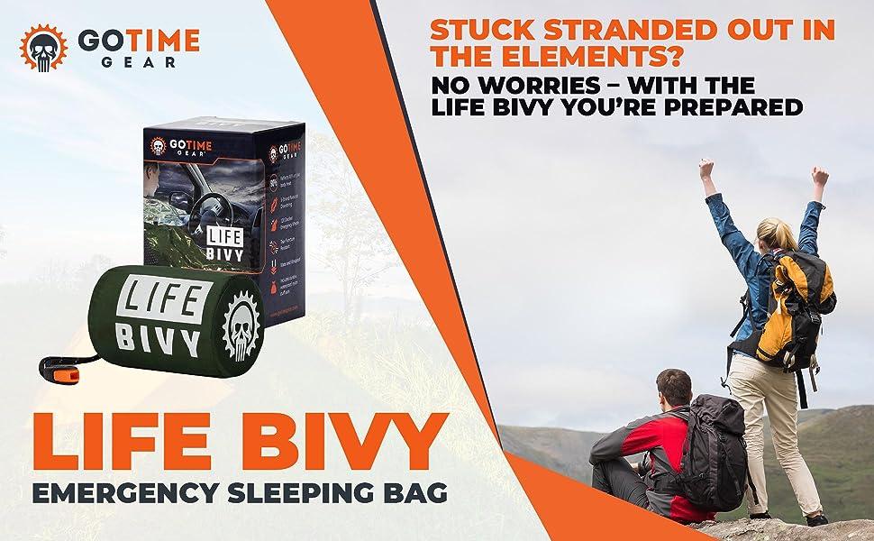 Use as Waterproof Emergency Bag Details about  /Life Bivy Emergency Sleeping Bag Thermal Bivvy