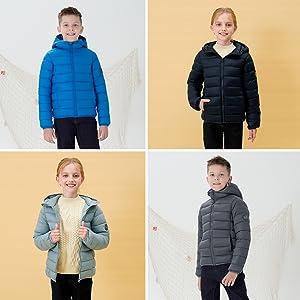 boys girls winter puffer jacket