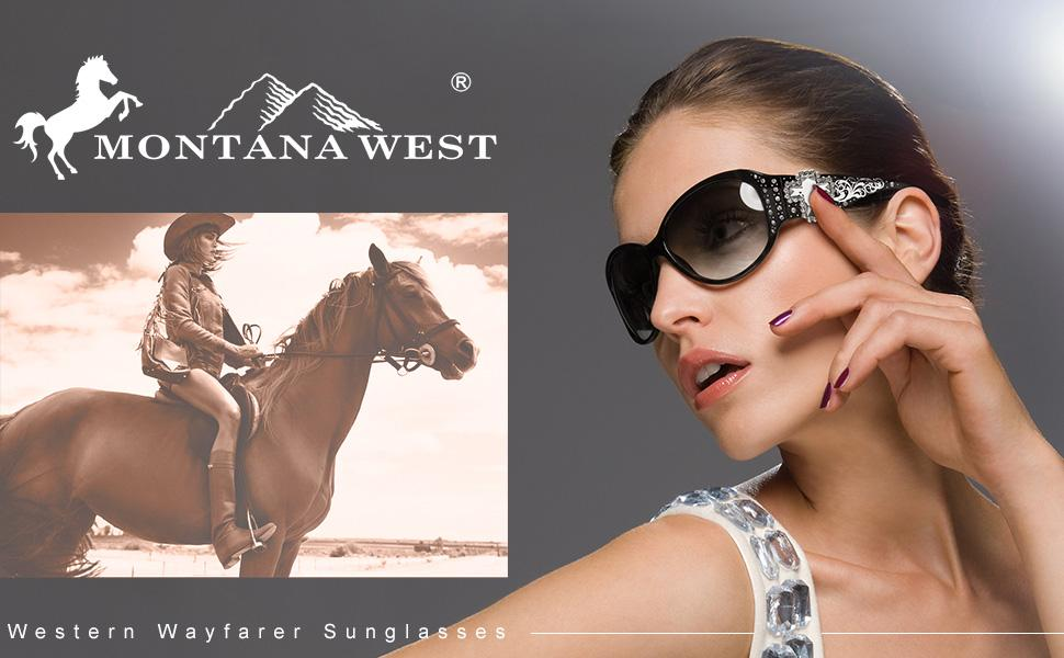 Montana West Sunglasses for Women UV 400 Western Bling Bling Collection Ladies Sunglasses