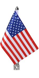 American Flag With Fold Down 90° Flag Pole