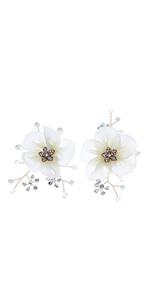 wedding flower shoe clips