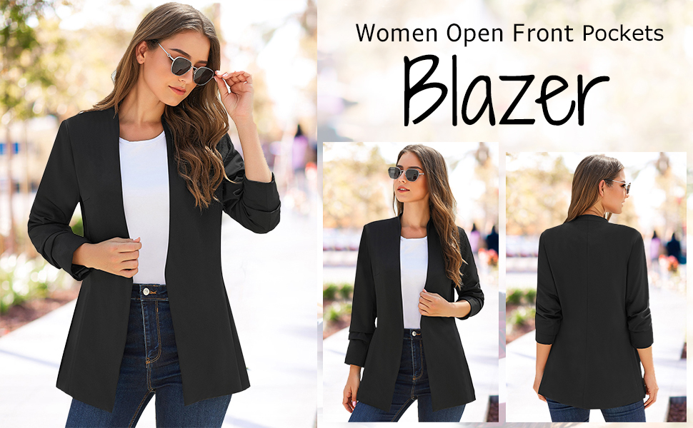 Women Open Front Blazer Suit BLHECCI