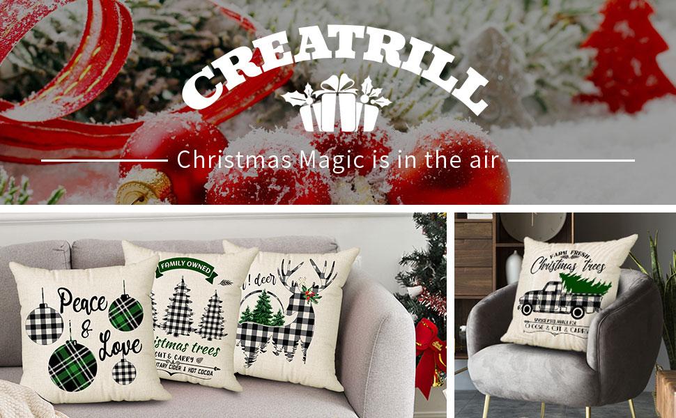 christmas pillow covers farmhouse