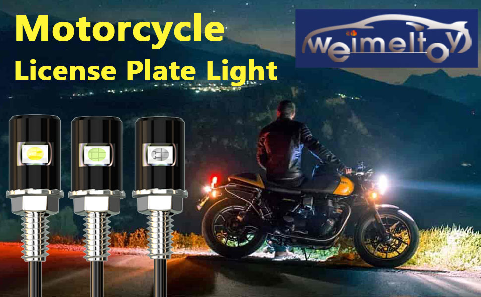 WEIMELTOY Motorcycle License Plate Light
