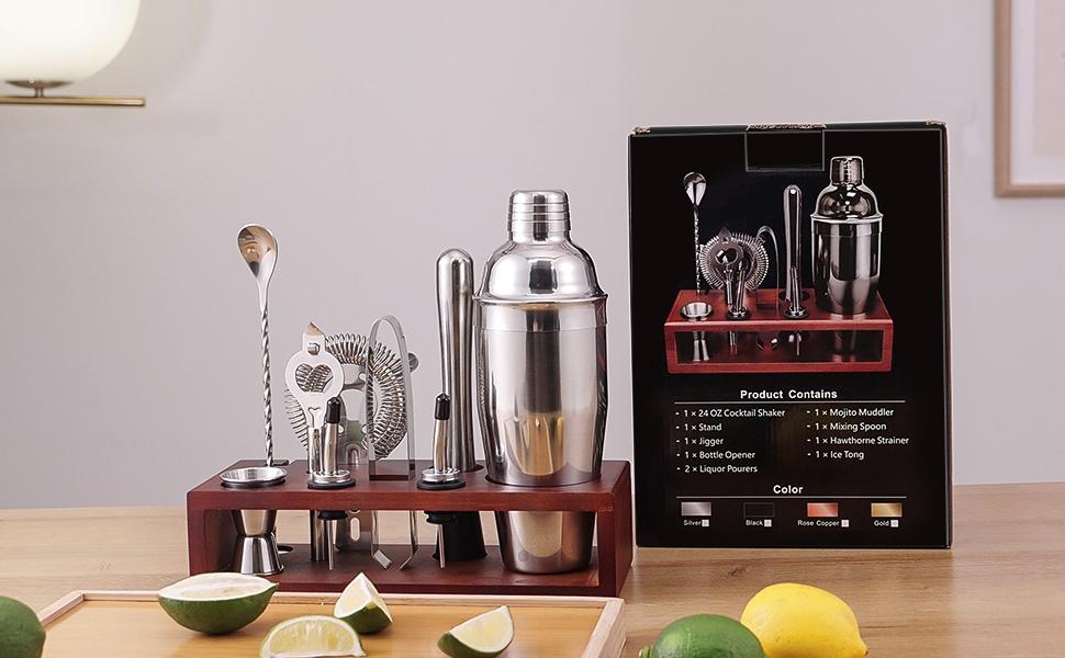 cocktail making set mixed drink shaker kit muddler set cocktail bar set