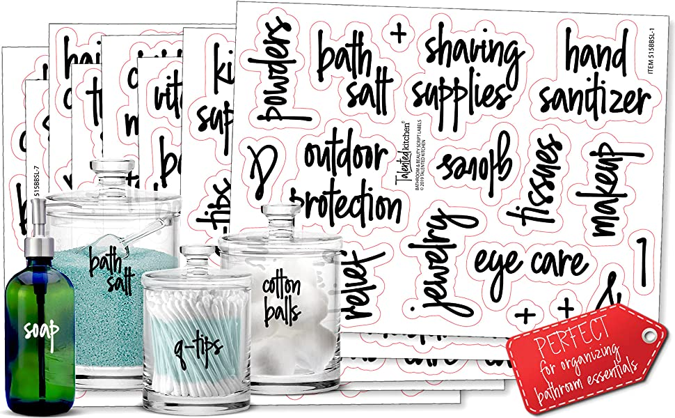 Bathroom labels by talented kitchen