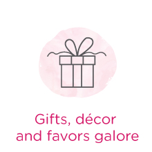 Gifts decor favors galore