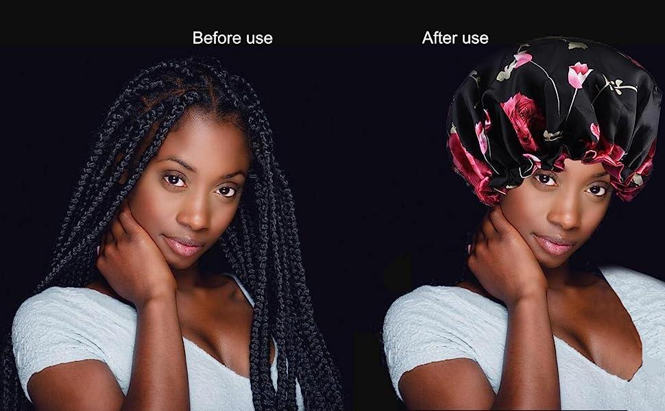 Natural Hair Silk Bonnets for Black Womens