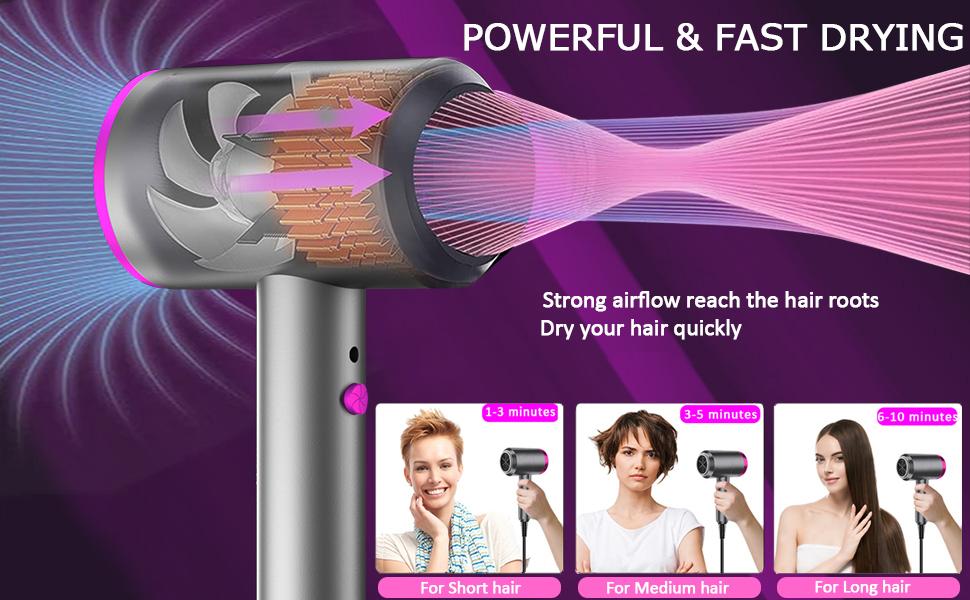 Powerful hair dryer