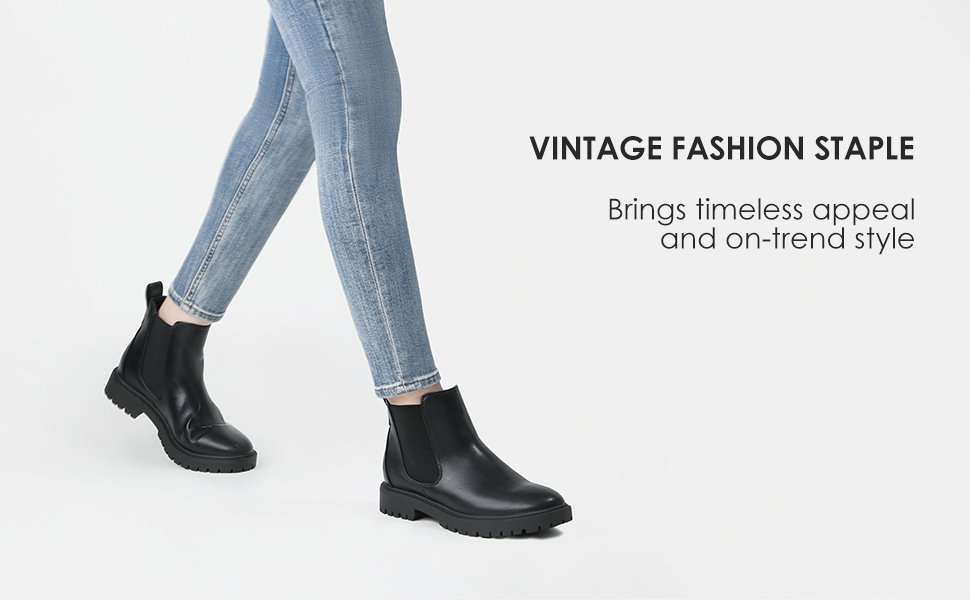 DREAM PAIRS Women's Chelsea Ankle Booties Shoes