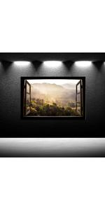 Large Landscape Wall Art Nature Canvas Art Mountain Landscape Foggy Forest Canvas