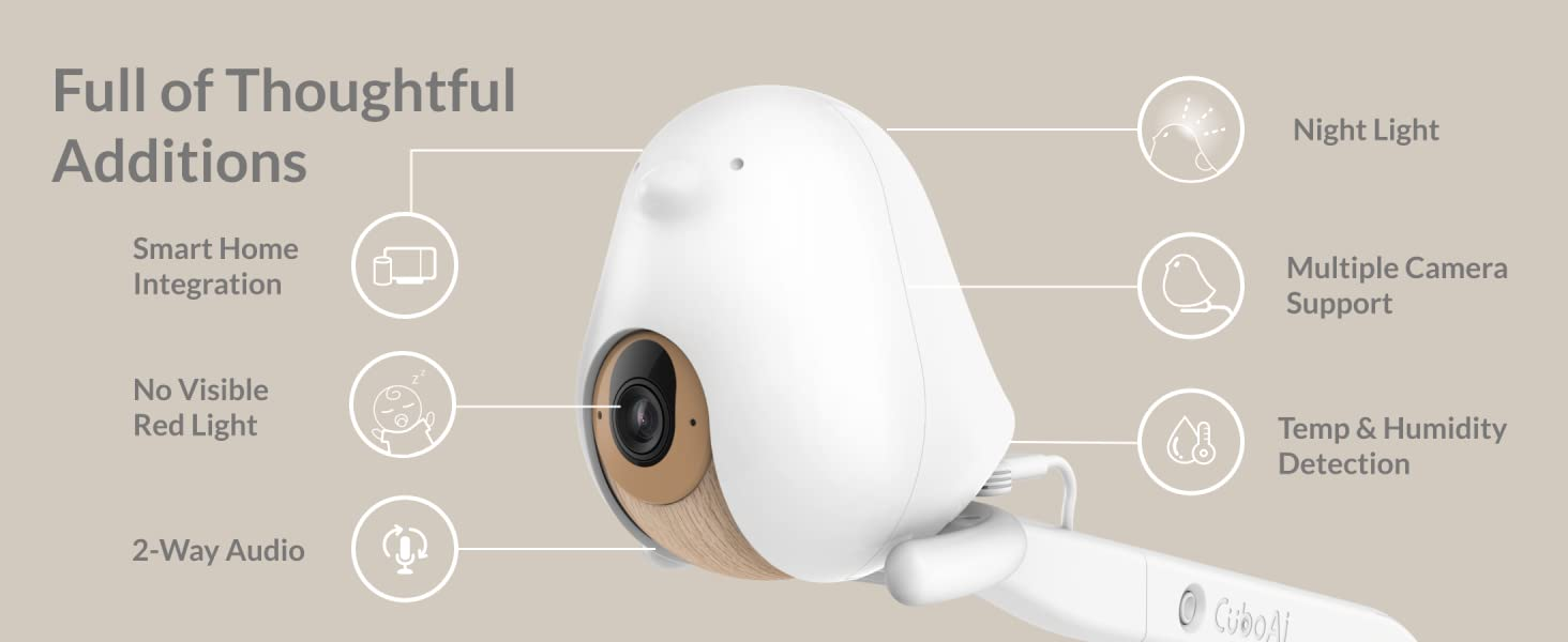 Full of Thoughtful Additions Cubo Ai Plus Smart Baby Monitor