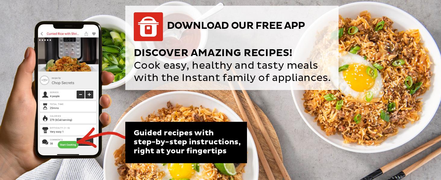 Instant pot, recipe app