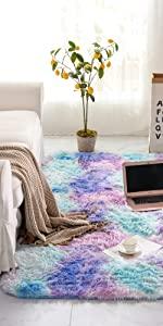 blue teal purple area rug