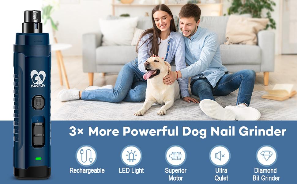 Casfuy More Powerful Dog Nail Grinder
