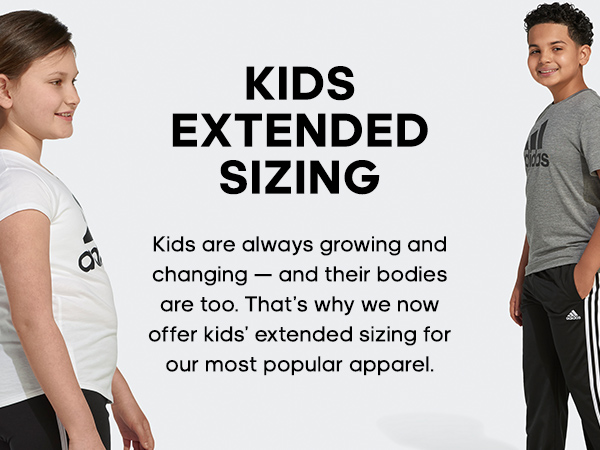 adidas Kids Extended Sizing