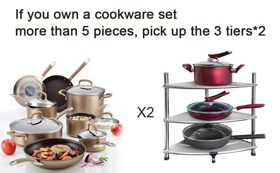 cookware set organizer