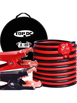 TOPDC 4 Gauge 20 Feet Jumper Cables