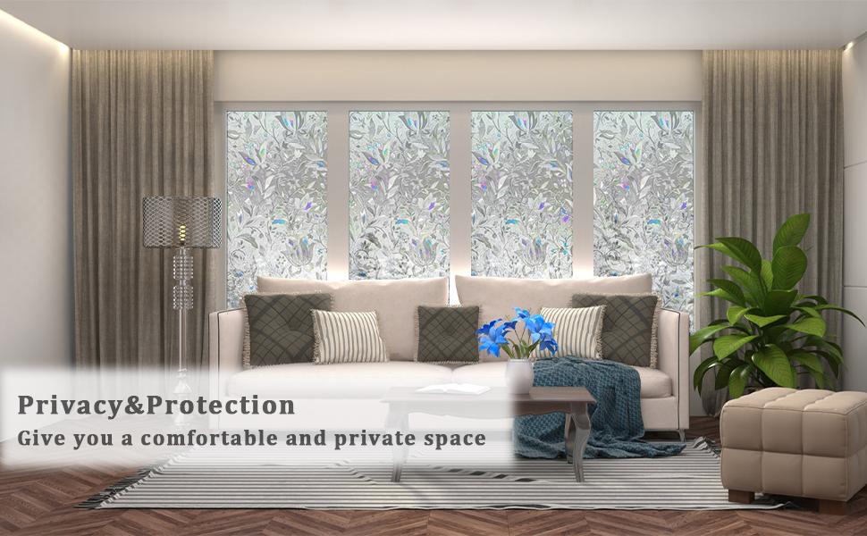 window clings for glass windows,decorative window film,stained glass window